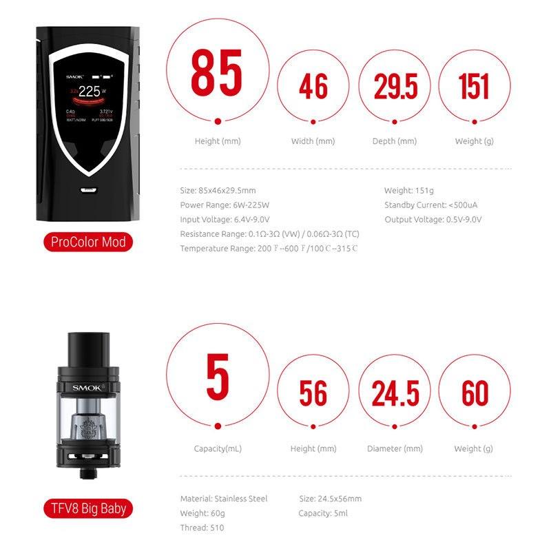 SMOK ProColor 225W Kit - Black