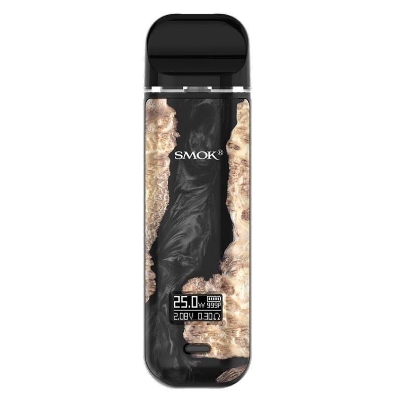 SMOK Novo X Open Pod Kit: Black Stabilizing Wood