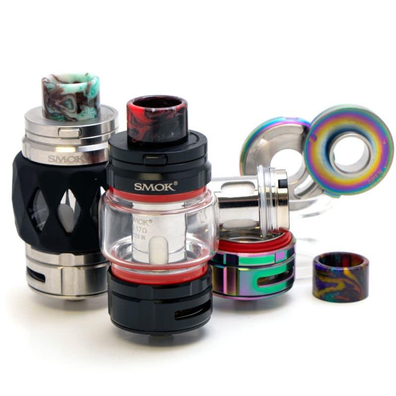 SMOK TFV16 King Sub Ohm Tank - Stainless, Black, 7-Color Rainbow