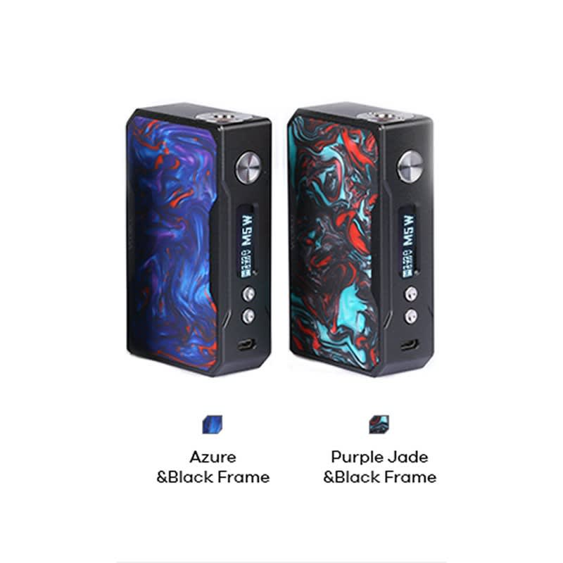 VooPoo Drag 157 TC Box Mod - Black Frame with Azure Resin and Purple Jade Resin