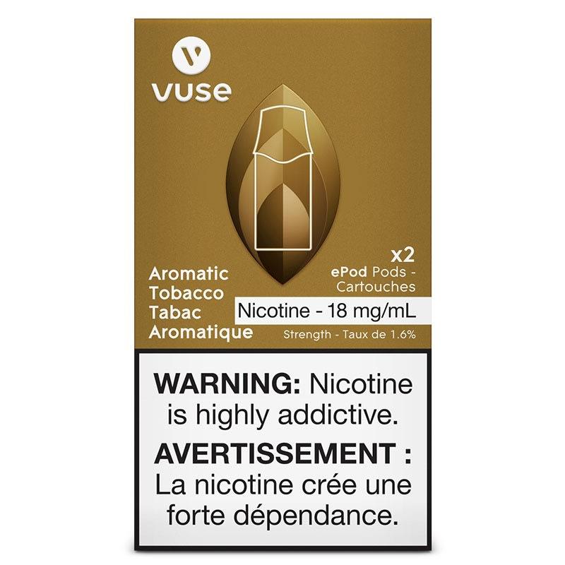 Vuse ePod Aromatic Tobacco Cartridges (2pk): 18mg/mL