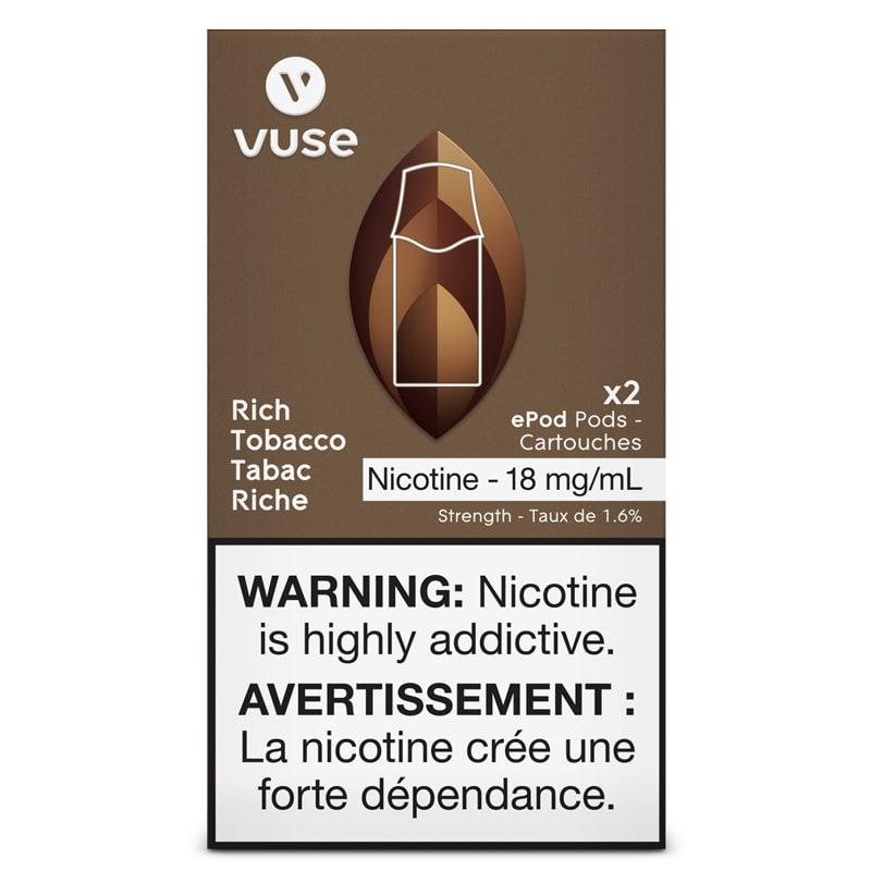 Vuse ePod Pods - Rich Tobacco 18mg/mL (2pk)