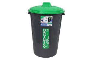 Bote para basura orgánico e inorgánico, Bote Cónico Con Tapa  50 Litros
