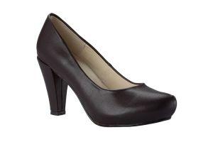 Zapato de plataforma externa con hebilla