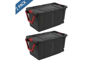 Caja Sterilite de plástico industrial con ruedas 40 gal /151 l