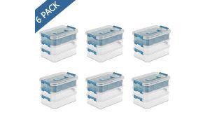 Caja organizadora transparente de 3 niveles Sterilite