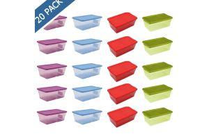 Cajas de plástico Sterilite de colores transparentes 5.7 l