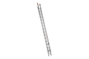Escalera de Extensión Aluminio de 9.75 mt de altura, 32 escalones y capacidad de carga de 175 kg  T-II