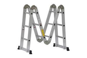 Escalera Multifunciones de Aluminio de 13 pies de altura y capacidad de carga hasta 150 kg máx. T-IA
