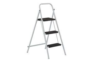 Escalerita de Acero de 3 escalones, 3 pies de altura y capacidad de carga hasta 150 kg máx.
