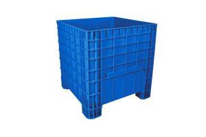 Contenedor de plástico de tipo industrial  alta con tapa, capacidad de 300 kilógramos
