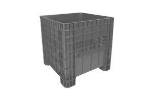 Contenedor de plástico de tipo industrial  con tapa, capacidad de 250 kilogramos apilable