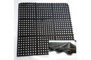Piso higiénico rígido de tipo industrial, con capacidad de 150 kilogramos de presión 30x30cm
