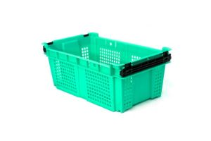 Caja de tipo agrícola  de plástico con asas con capacidad de 10 kilogramos 48x29cm