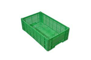 Caja de tipo agrícola de plástico con capacidad de 10 kilogramos y apilable
