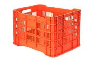 Caja de tipo agrícola calada ligera de plástico con capacidad de 25 kilogramos, 505x33cm apilable