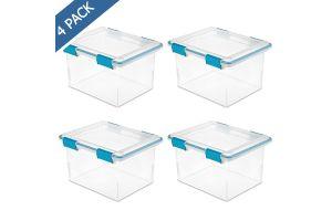Sterilite cajón individual de plástico transparente