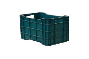 Caja de tipo agrícola estilo walterino con plástico reciclado de polietileno con capacidad de 30 kilogramos y medidas de 51x33cm
