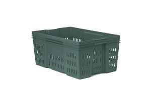 Caja de tipo industrial de estilo Montreal con plástico reciclado de polietileno con capacidad de 30 kilogramos y medidas de 60x40cm