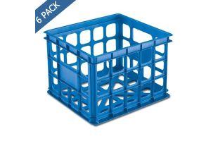 Caja contenedor para almacén 15 x 13 x 10 pulgadas azul acuario