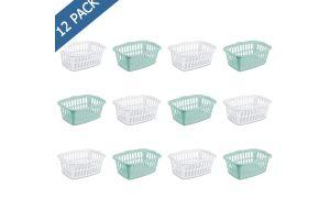 Sterilite tina para lavandería de plástico con asas, cesto lavandería rectangular 53 litros