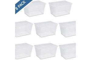 Bote para basura con tapa de balancín, cesto papelero redondo swing-top 10.5 gal / 40 litros Sterilite