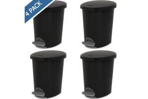 Bote con pedal para basura Sterilite, cesto papelero step-on 2.6 gal / 9.8 litros
