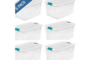 Bote para basura de plástico con tapa Sterilite, cesto papelero touch top negro 28 litros / 7.5 gal