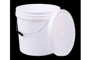 Cubeta de plástico 20 litros 1ra con tapa y asa metálica