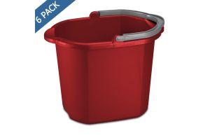 Cubeta de plástico con vertedor 15.3 litros / 16 QT color rojo Sterilite