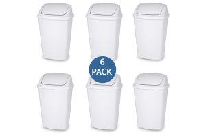 Cesto swing-top 7.5 gal / 28 litros, bote para basura Sterilite con tapa de columpio 28 litros