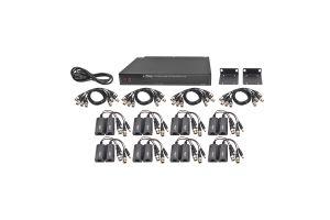 Sistema completo con 16 canales, 1 receptor activo de 16 canales y con 16 transceptores de video