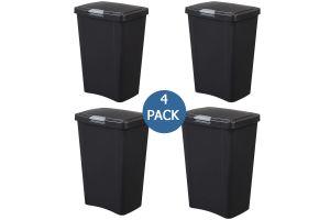 Sterilite cesto para basura de plástico con tapa, cesto touch top 13 gal / 49 litros