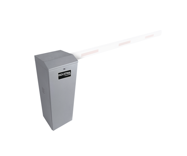 ✅ Barrera Vehicular AccessPro con apertura derecha y equipado para soportar un brazo de hasta 5.5 metros