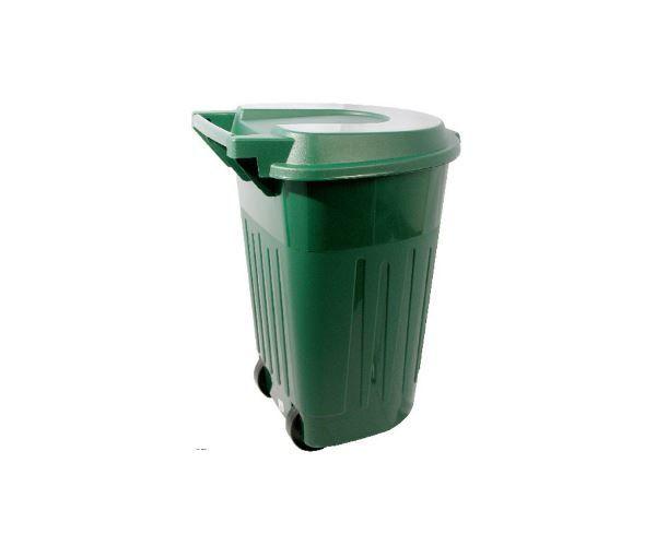Bote de plástico Ecológico con tapa y llantas, Bote 120 litros C/Ruedas Y Tapa