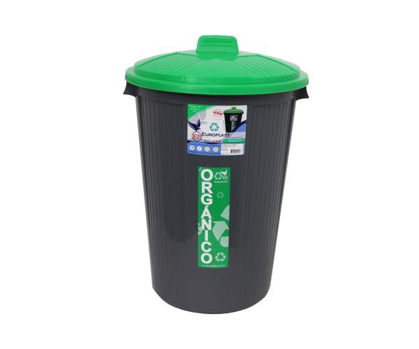 ✅ Bote para basura orgánico e inorgánico, Bote Cónico Con Tapa  50 Litros