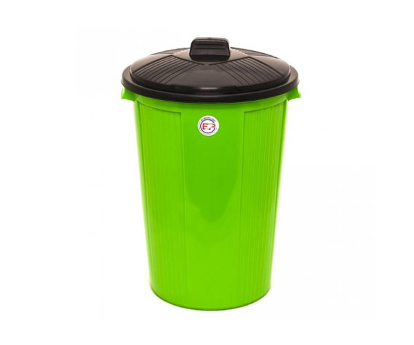 Bote para basura de plástico, Bote Cónico Con Tapa ESPECIAL 50 L