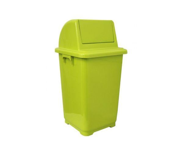 Botes contenedores ecológicos de plástico, Bote Cuadrado 90 lt c/ tapa balancín