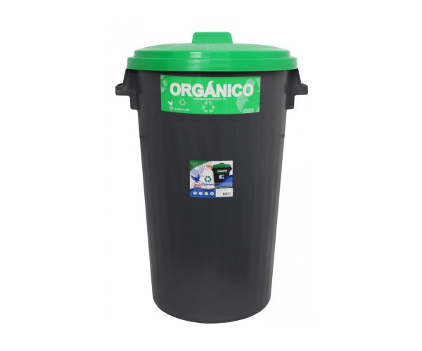 ✅ Contenedor para basura de plástico ecológicos, Bote Europlast No. 3 C/Tapa 125 L