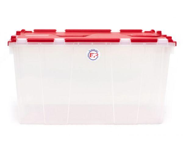 ✅ Caja transparente de plástico con tapa de Bisagras, Caja De Bisagras Uso Domestico C/T
