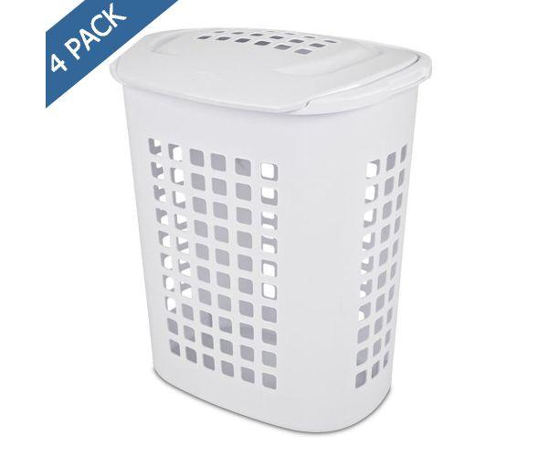 ✅ Cesto Sterilite para lavandería con tapa 2.3 bu / 81 l