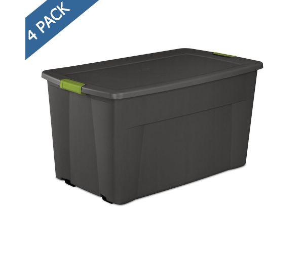 ✅ Sterilite Caja con tapa y broches de seguridad gran capacidad con ruedas 45 gal / 170 l