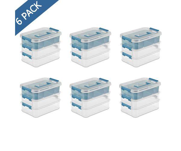 ✅ Caja organizadora transparente de 3 niveles Sterilite