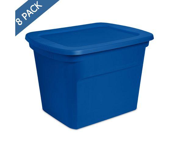 ✅ Caja Sterilite de plástico solido con tapa hermética  de  18 gal / 68 l