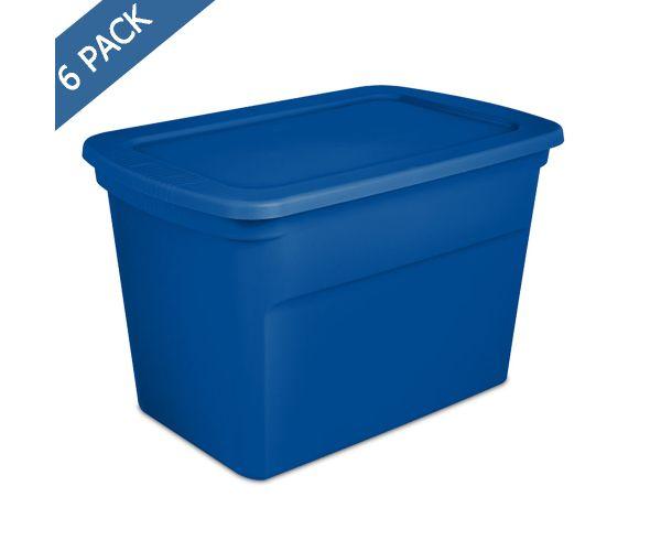 ✅ Caja de plástico solido con tapa hermética de 30 gal / 114 l