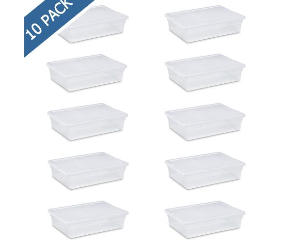 ✅ Caja Sterilite de plástico transparente 8 qt / 27 l