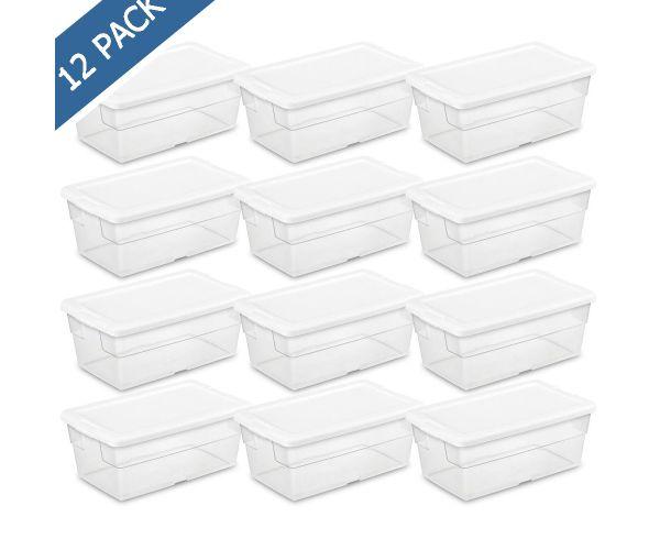 ✅ Caja organizadora plástica con tapa lisa y base transparente de 15 litros