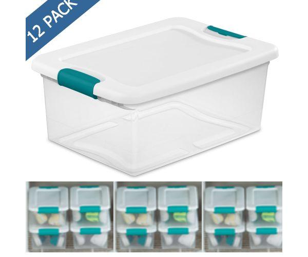 ✅ Caja de plástico multiusos Sterilite 14 litros