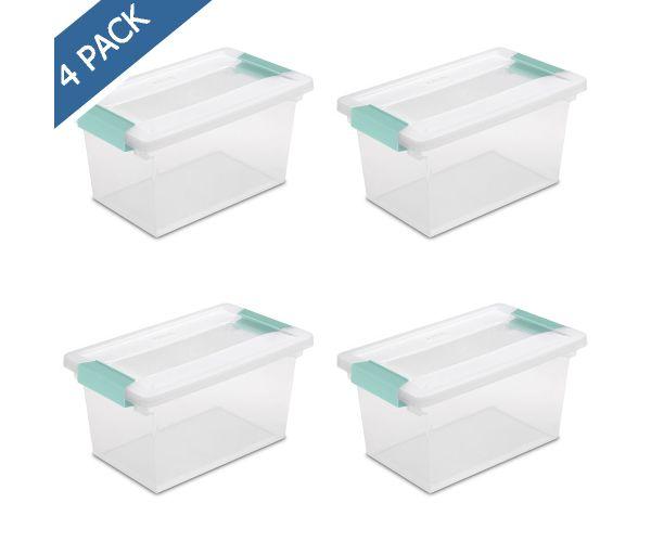 ✅ Caja transparente multiusos con broches de clip
