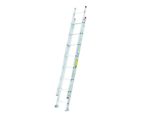 ✅ Escalera de Extensión de Aluminio de 4.87 mt de altura y capacidad de carga de 150 kg máx. 16 peldaños T-III